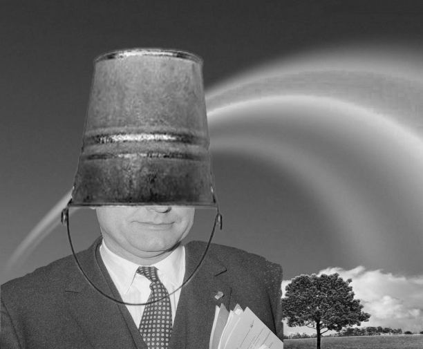 U kent die befaamde foto van Paul Vanden Boeynants met een emmer op zijn hoofd niet? Dat is vreemd!